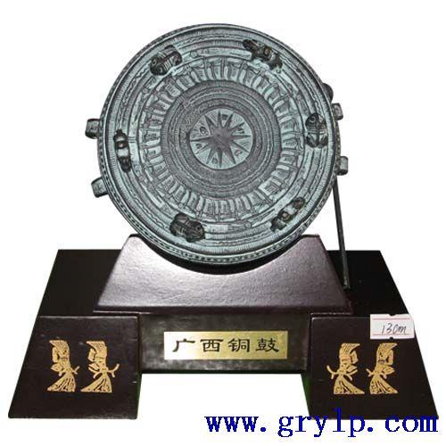 广西铜鼓,13CM广西铜鼓,中国青铜