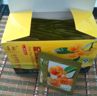 广西金花茶袋泡茶,一次性袋装金