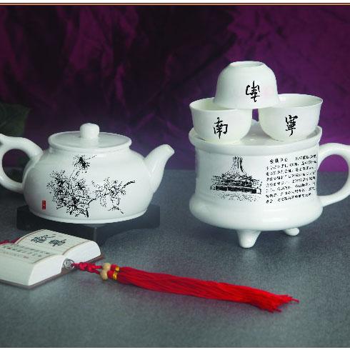 乾坤骨瓷茶具--广西南宁城市风光