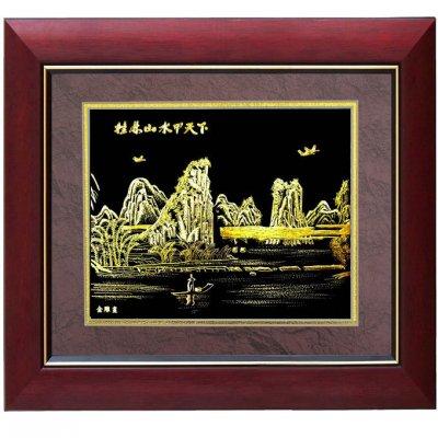 金箔画,桂林山水金箔画,广西南