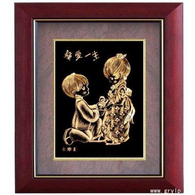 金箔画,钟爱一生金箔画,广西南