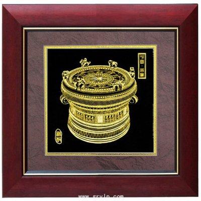 金箔画,广西铜鼓金箔画,广西南