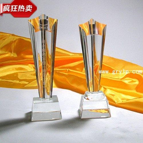 五角星水晶奖杯1,创意纪念礼品,