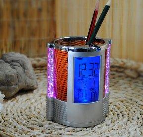 笔筒,电子笔筒,七彩闪灯/夜光/电子万年历时钟/闹钟/温度笔筒