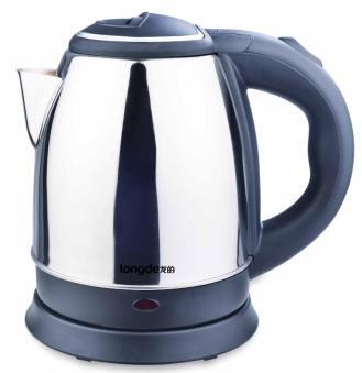 正品龙的1.2L电热水壶/LD-SH12A,防干烧温控不锈钢电热水壶