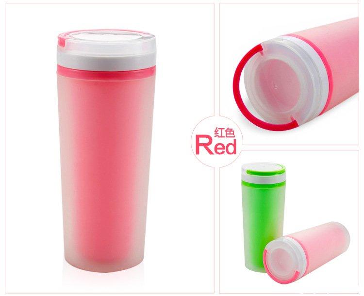 塑料杯,双层塑料广告杯批发定制-防漏水杯,双层磨砂杯子定做印LOGO