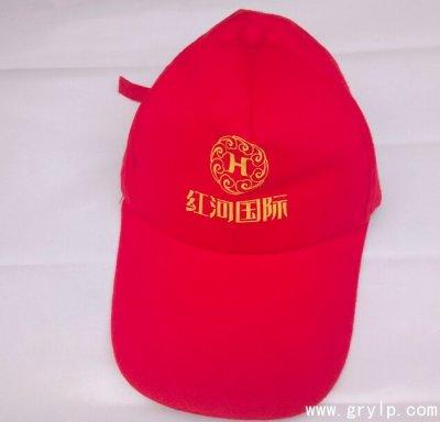 纯棉广告帽,红河国际广告帽案例