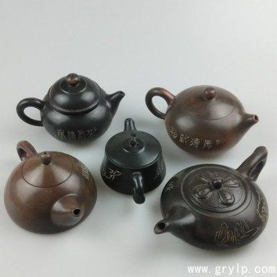 钦州坭兴陶壶,广西钦州坭兴陶壶茶壶-古安陶艺