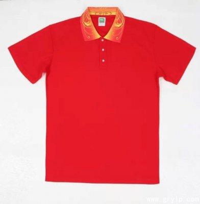 南宁广告衫定做,南宁文化衫定做,大红色方领文化衫定做