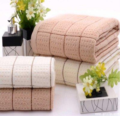 礼品毛巾,纯棉雅格毛巾/浴巾三件套礼盒