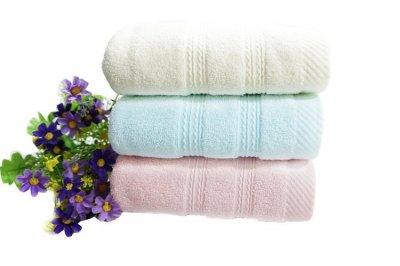 长绒棉双缎毛巾/浴巾3件套,加厚