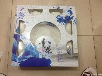 13头陶瓷礼品碗,礼盒装餐具陶瓷